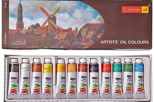 Camlin Kokuyo Artist's Oil Colour Box - 9ml Tubes x 12 Shades