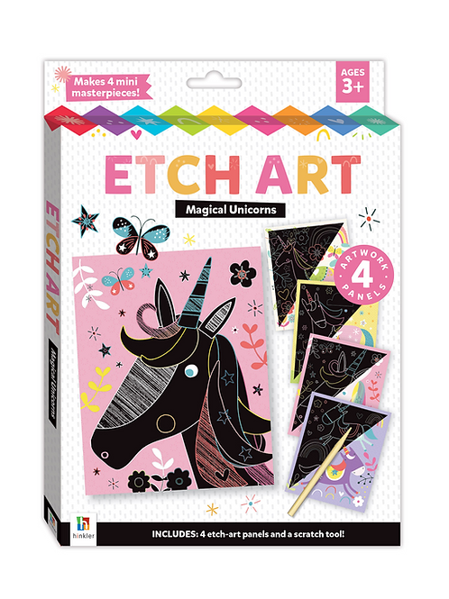 Hinkler Etch Art: Magical Unicorns