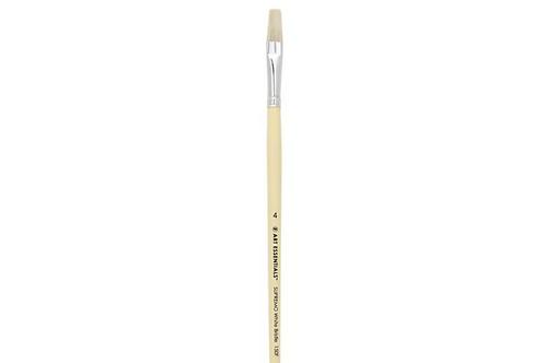 Art Essentials SUPREMO 150 Series White bristle Flat Brushes Size - 4