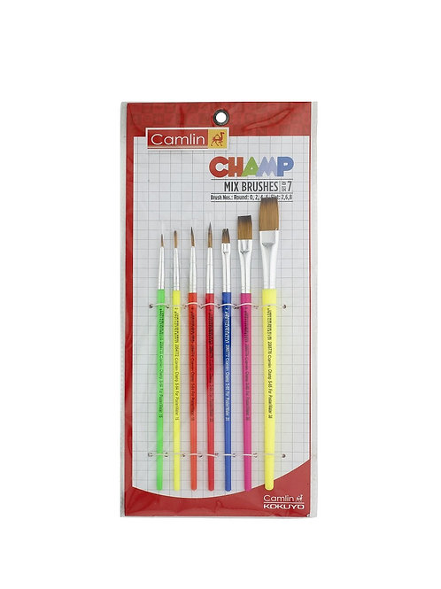 Camlin Kokuyo Champ Assorted Brush - Set of 7