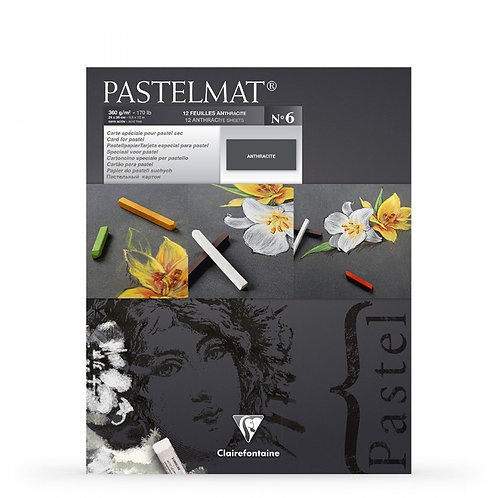 Clairefontaine Pastelmat No6 Pad Anthracite - 9.5x12 Inches