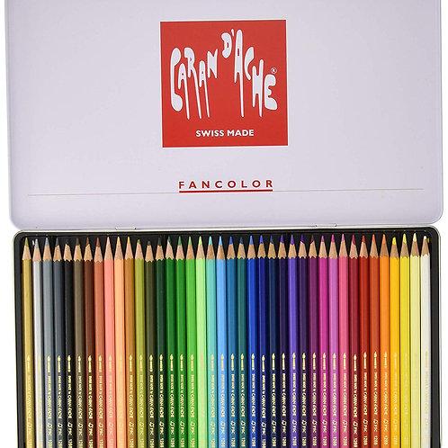 Caran Dache Fancolor Colour Pencils - Set of 40 colours