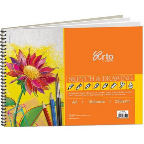 Arto Campap Drawing book 225 gsm 15 sheets - A3