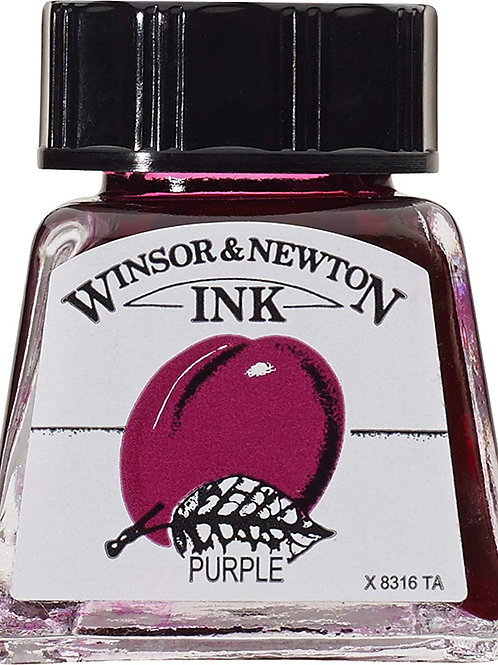 Winsor & Newton Drawing Ink Bottle Purple - 14ml & 30ml