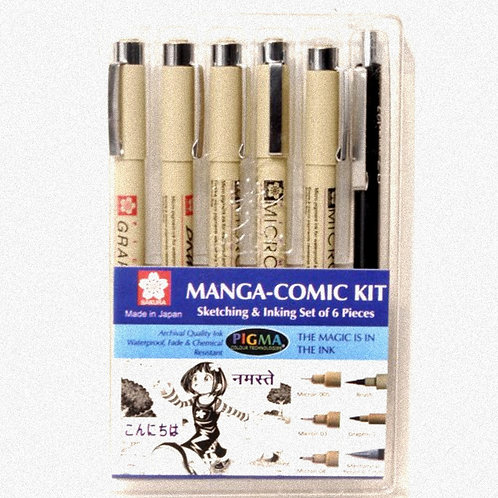 Sakura Manga-Comic Kit - Set of 6