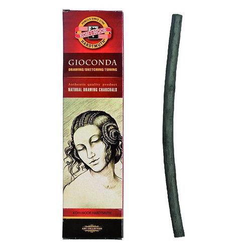 Kohinoor Hardtmuth Natural Drawing Charcoal 8-9mm - Set of 4