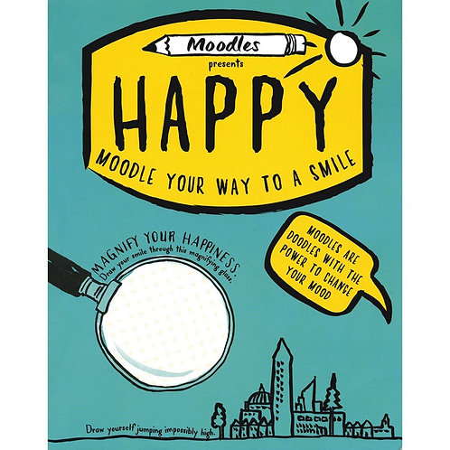 Happy Moodle - Adulting Doodling Book by Moodles