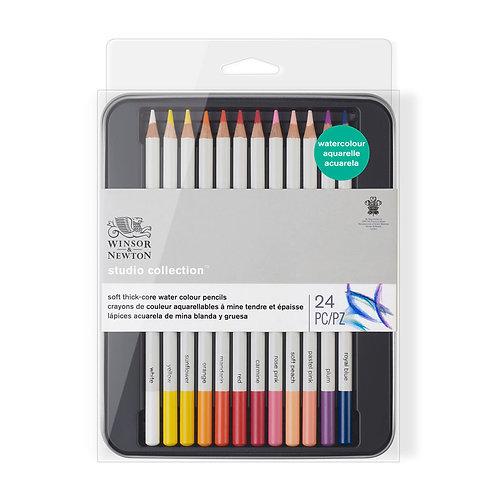 Winsor & Newton Studio Collection Watercolour Pencil -  Set of 24