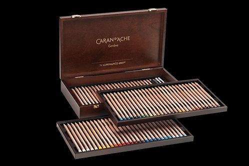 Caran Dache Luminance 6901 Wooden Colour Pencil - Set of 76