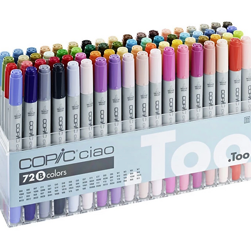 Copic Ciao Marker Set B - Set of 72 Colours