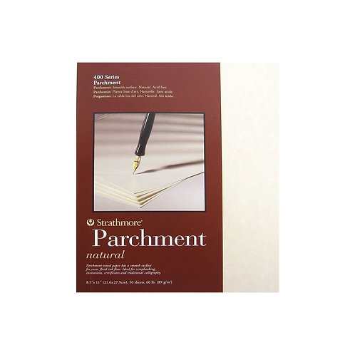 """Strathmore 400 Series Natural Parchment 8.5""""x11"""" - 89 GSM Paper - Polypack of 50"""
