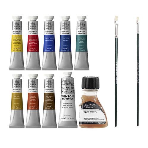 Winsor & Newton - Winton Oil Colour Set of 12 (21 ml Tubes)