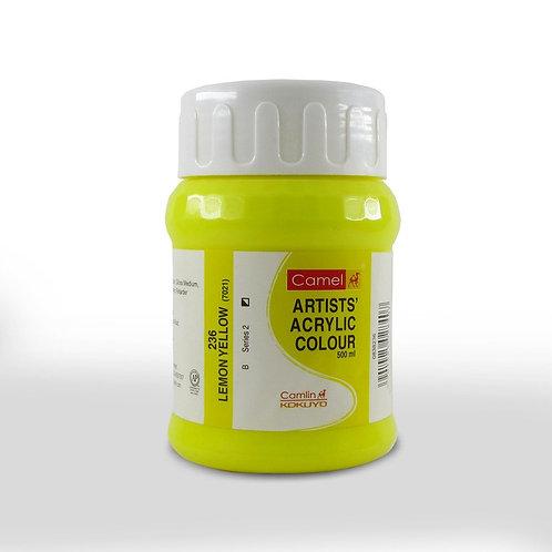 Camlin Kokuyo Acrylic 500ml - Lemon Yellow