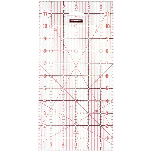 Fiskars Acrylic Ruler - 6x12inches