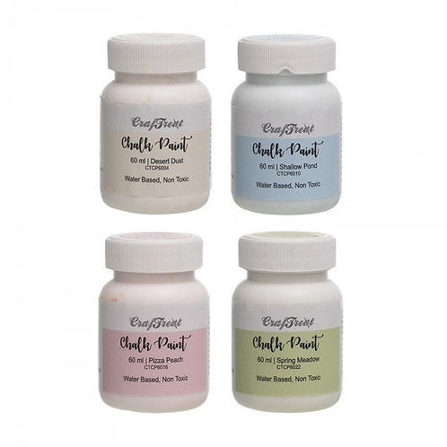 Craftreat Chalk Paint Pastel Set 1 -  60ml x 4 colours