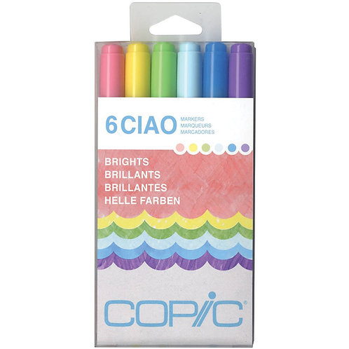 Copic Marker Bright Doodle Kit - 6 Markers