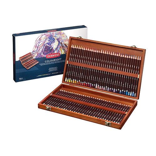 Derwent Coloursoft Wooden Box - Set of 72