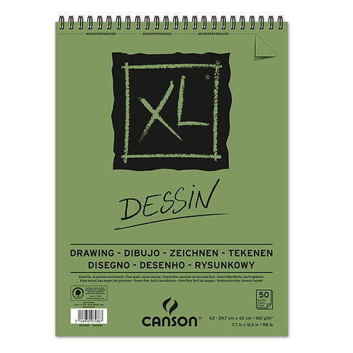 Canson XL Dessin Sketch Pad 160gsm 50 sheets - A3