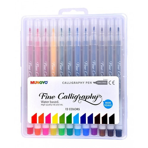 Mungyo Calligraphy Pen Set Of 12 Assorted Colours
