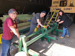 Taking bench apart.JPG