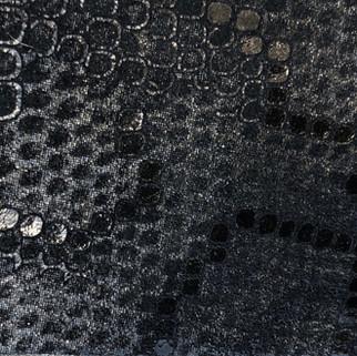 Motifs serpent noirs avec reflets N°325