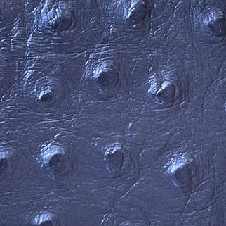 Effet cuir d'autruche bleu N°572