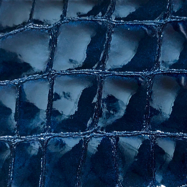 Croco vernis bleu marine N°98