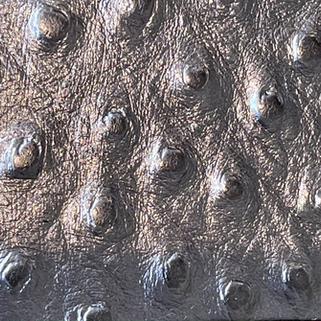 Effet cuir d'autruche argent N°574