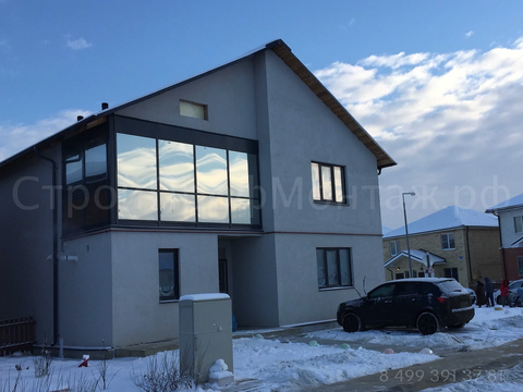 Дом 250 м² из кирпича
