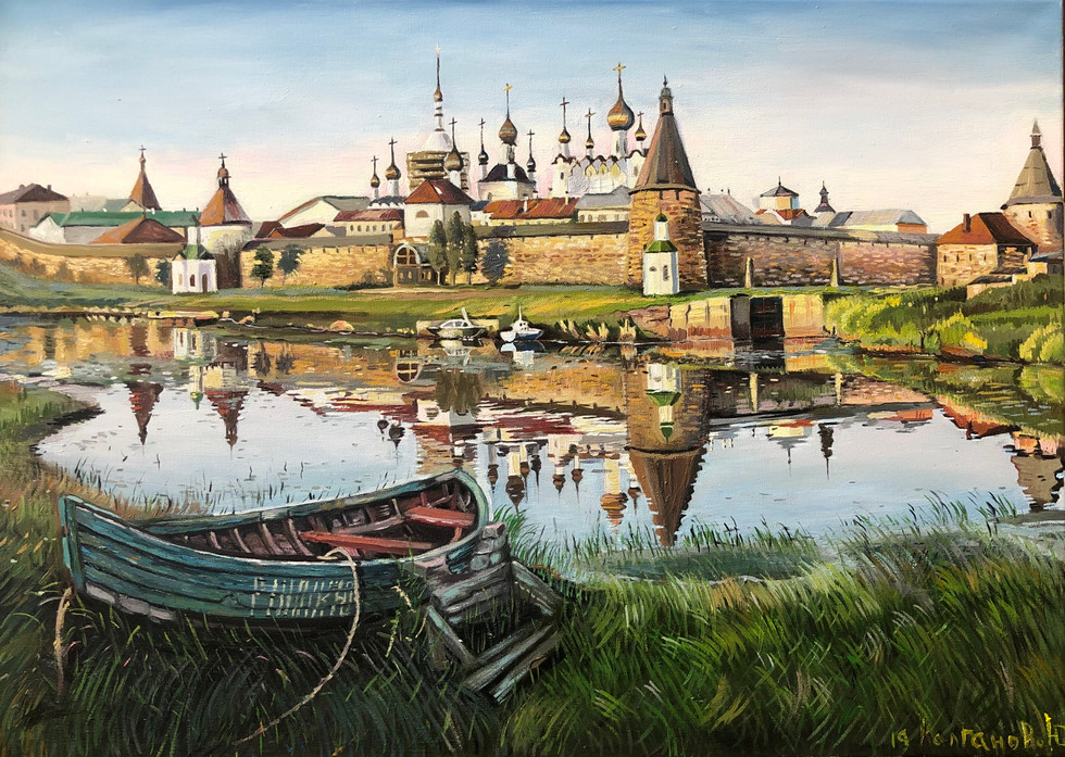 Картина «Соловки» 60х80 холст масло. 2019 год. Картина в частной коллекции