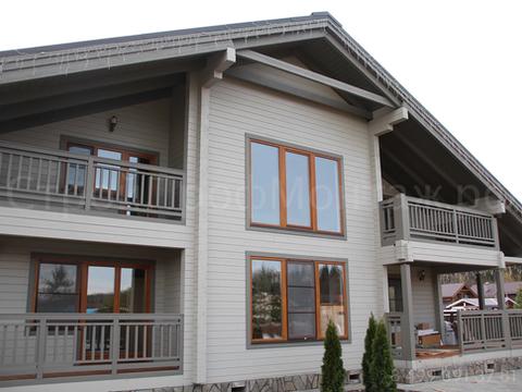 Дом 225 м² из клееного бруса+ баня+гараж