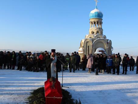 Перезахоронение воинов в Ельне 17 декабря