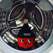 #scrubadub #henry in the #washingmachine #laundry #launderette #aberdyfi