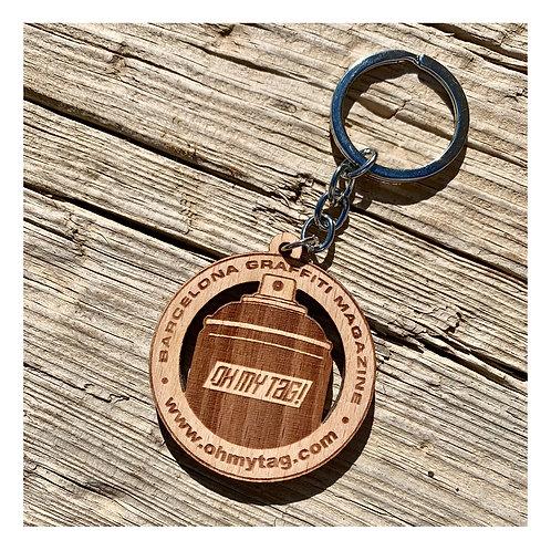 Llavero de madera Oh my tag!