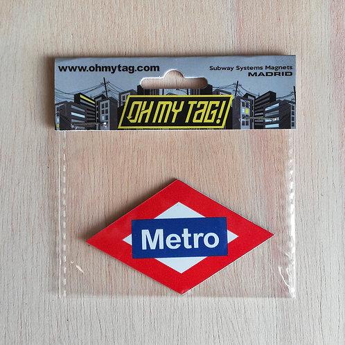 Imán Metro Madrid