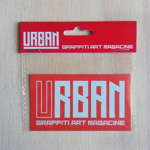 Sticker URBAN (Red-white)