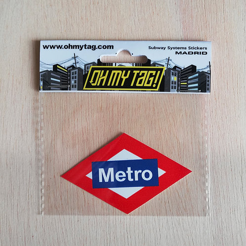OMT Sticker Metro Madrid