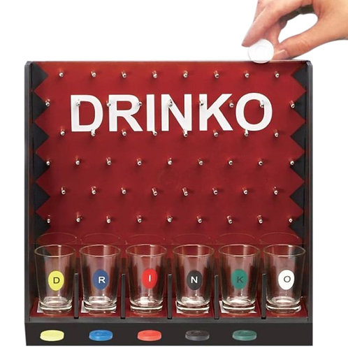 Mini Drinking Game Coin Dropping Party Game With 6 Glass Cups