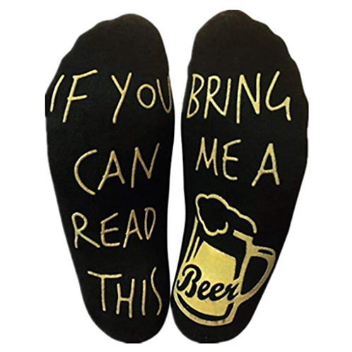 Beer Socks Ankle Socks Anti-Slip Letter Stretchy Soft Ankle Socks