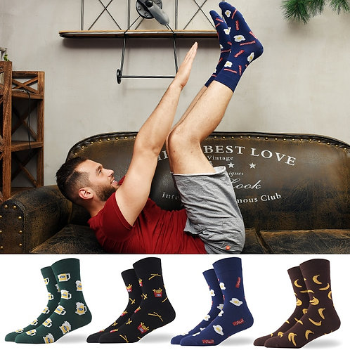 Funny Colorful Beer Combed Cotton Spring and Summer Unisex Happy Socks