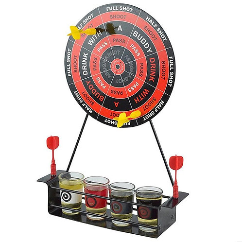 Mini Drinking Game Dart  With 4 Glass Cups