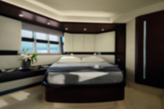 Master bedroom Azimut yacht