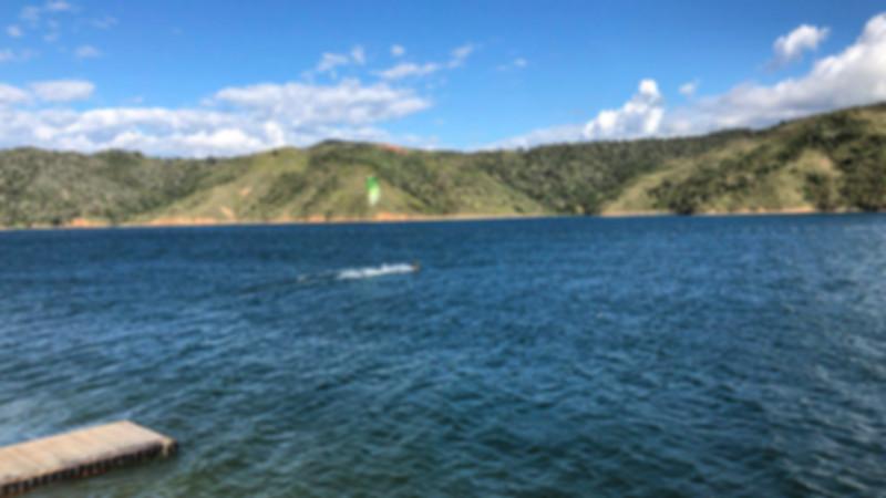 kitesurfer in Calima lake Cali Colombia