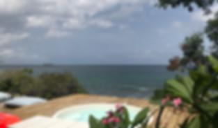 Ocean view jacuzzi