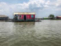 House built on stilts over swamp