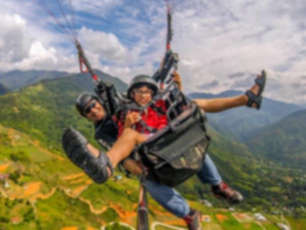 paragliding over Cali