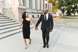 big smiles from this engaged couple