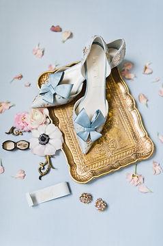 something bleu shoes in a wedding flatlay fine art styling