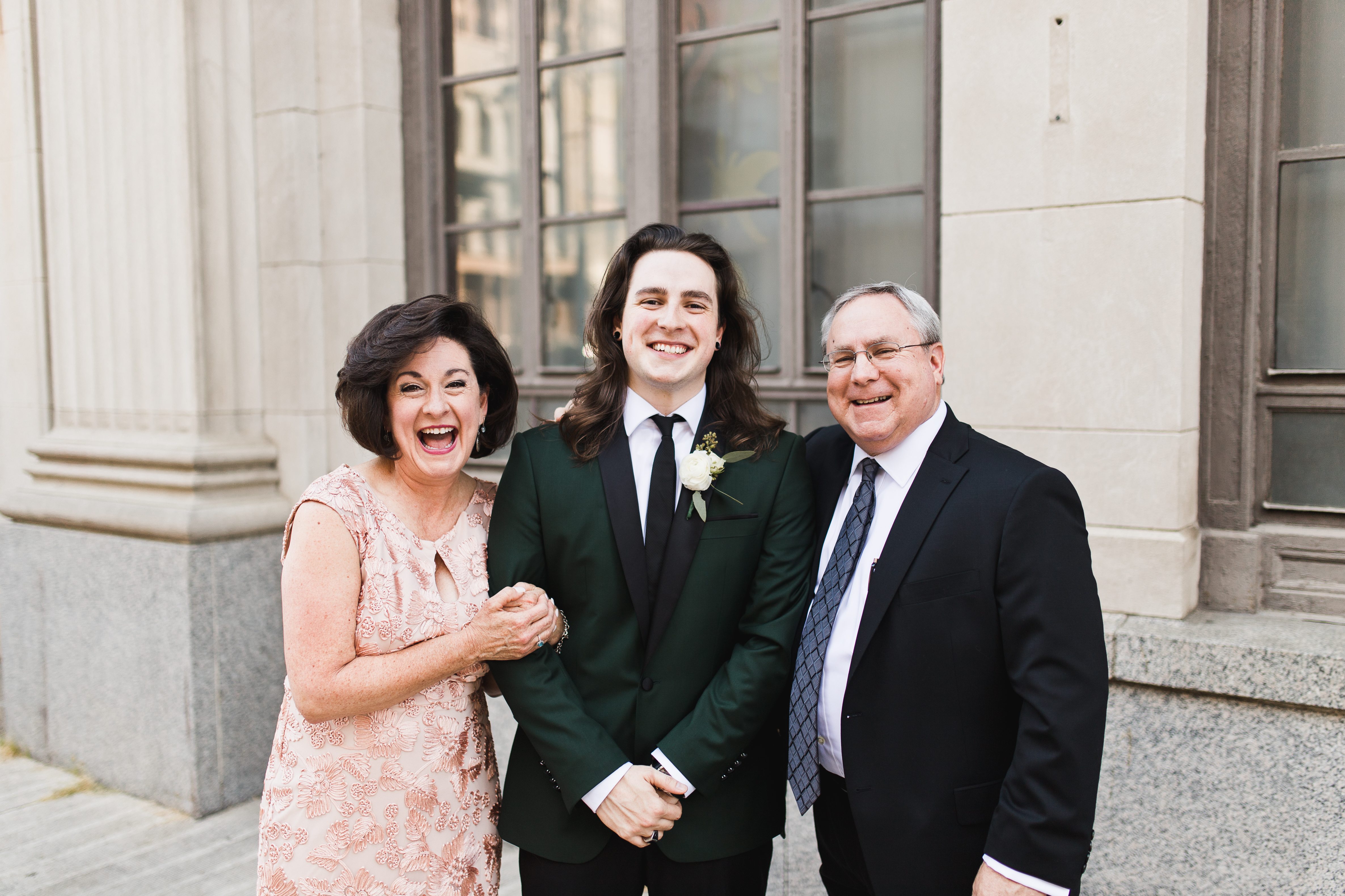 family formals laughing