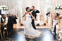 first dance of newly married couple